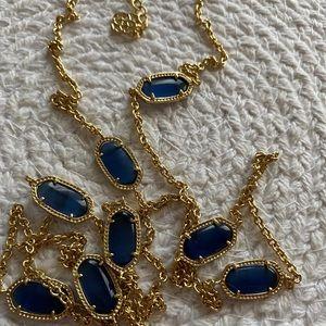 Kendra Scott Kelsie Necklace in Blue Cat Eye